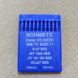 Иглы Schmetz DCх27 SES №75 (уп. 10 шт.)