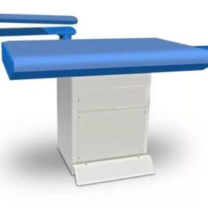 TRIO Промышленный прямоугольный глад. стол с рукавом, подогревом и вакуумной аспирацией 82 x 122