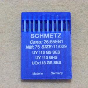 Иглы Schmetz UYx113 GS №75/11  (уп. 10 шт.)