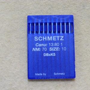 Иглы Schmetz DBхK5 №70 (уп. 10 шт.)