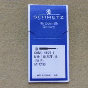 Иглы Schmetz 190R №110 (уп. 10 шт.)