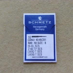 Иглы Schmetz LWx6T SES №60 (подшивочные) (уп. 10 шт.)