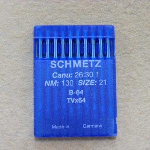Иглы Schmetz Bх64 (TVх64) №130 для цепного стежка  (уп. 10 шт.)