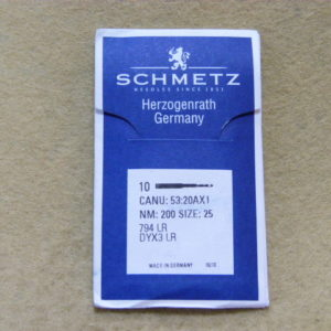 Иглы Schmetz 794 (DYх3) LR №200 (уп. 10 шт.)