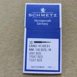 Иглы Schmetz TQх7 SES №110 (уп. 10 шт.)