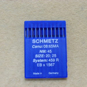 Иглы Schmetz 1567 (459R) №45 для скорняжных машин (уп. 10 шт.)