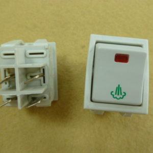 Silter Переключатель широкий с индикацией пара (10 ампер) TY BA 02
