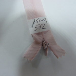 Молния потайная №3 25см Е-512 светло розовый