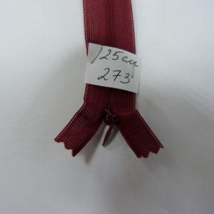 Молния потайная №3 25см Е-273 бордо