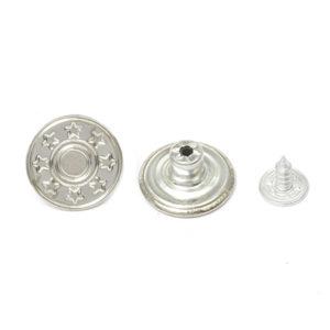 Джинс.пуговица 17 мм 8 звезд никель (уп.1000шт)