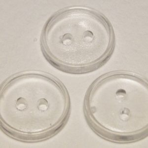 Пуговица 2-П д.17мм прозрачная (1000 шт/уп)