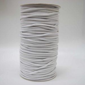 Резинка круглая 2.5 мм 100м белый