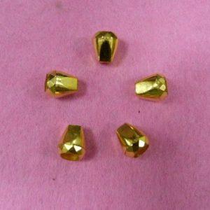 Концевик №352 колокольчик (500 шт/упак) под металл золото