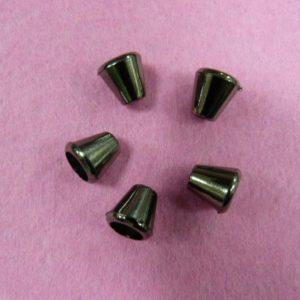 Концевик №50 колокольчик (500 шт/упак) под металл черный никель, большой