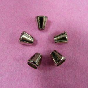 Концевик №50 колокольчик (500 шт/упак) под металл никель, большой