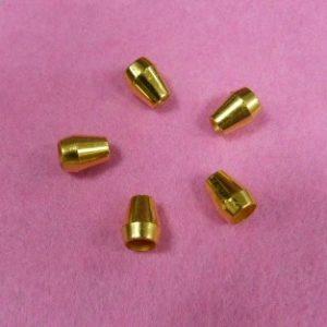 Концевик №64 колокольчик (500 шт/упак) под металл золото