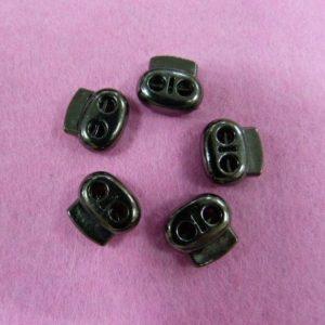 Фиксаторы №31 двухдырочный под металл черный никель (500 шт/упак) малый