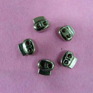Фиксаторы №31 двухдырочный под металл никель (500 шт/упак) малый