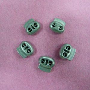 Фиксаторы №33 двухдырочный под металл никель (500 шт/упак)
