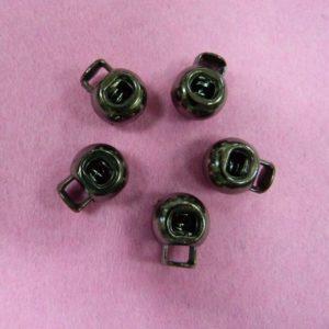 Фиксаторы №36 шариковый под металл черный никель (500 шт/упак)