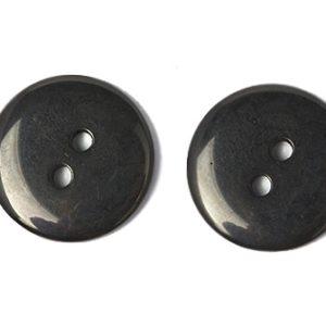 Пуговица 2-П д.15мм черная (1000 шт/уп) 24L
