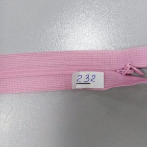 Молния потайная №3 50см ДС-232 темная роза
