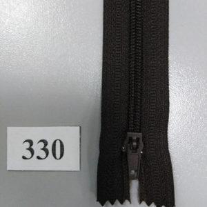 Молния брючная №4 20см ДС-330 темно-коричневый