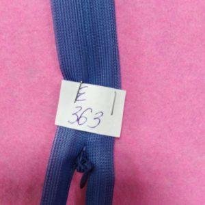 Молния потайная №3 50см Е-363 серо-синий