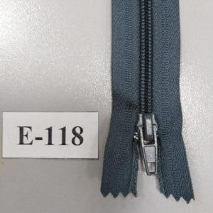 Молния брючная №4 20см E-118 темно-серый, автофиксатор (10шт/уп)