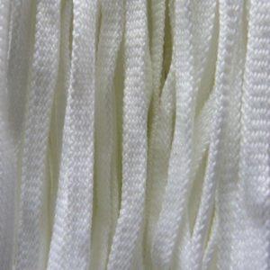 Шнур 34 Ф плоский 7 мм, рул-200м, белый