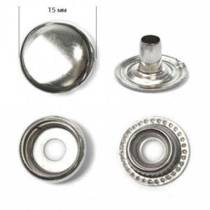 Кнопка рубашечная «Strong» №61 15мм  (уп. 720шт.) никель