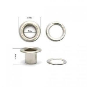 Люверсы №2 (4мм) никель (уп-5000шт)