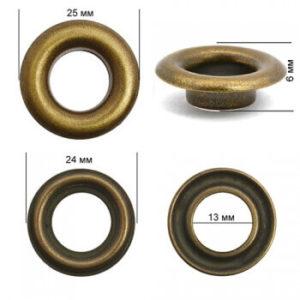 Люверсы №26 (12мм) антик (уп-500шт)