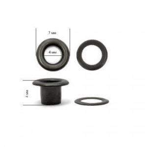 Люверсы №2 (4мм) оксид (уп-5000шт)