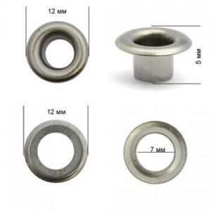 Люверсы №4 (6мм) темный никель (уп-5000шт)