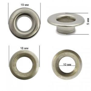Люверсы №24 (9мм) никель (уп.1000шт)