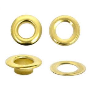 Люверсы №24 (9мм) золото (уп.1000шт)