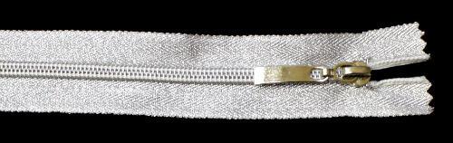 Молния спираль №5 70 см, тесьма и звено, серебро