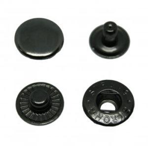 Кнопка рубашечная «Strong» ALFA 15мм  (уп. 720шт.) оксид нержавеющие