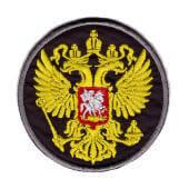 Аппликация «герб Россия» (черный) — 8007