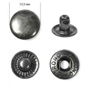 Кнопка рубашечная «Strong» ALFA 12,5мм  (уп. 1440шт.) оксид