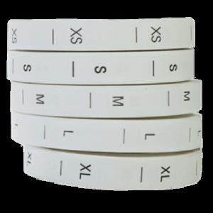 Размерник белый XS, 350шт/рул