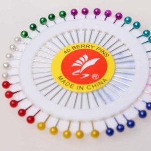 Булавки на пластине с цветными головками JZ