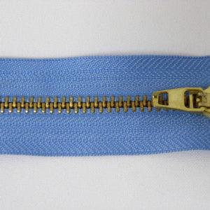 Молния джинсовая латунь тип 5 18 см №174 ДС темно-голубой