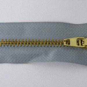 Молния джинсовая латунь тип 5 18 см №379 ДС серо-голубой