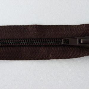 Молния спираль №5 45см темно-коричневый