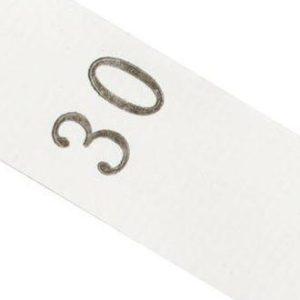 Размерник белый, 30 р-р, 320шт/рул