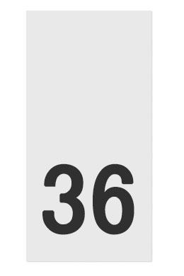 Размерник белый, 36 р-р, 500шт/рул