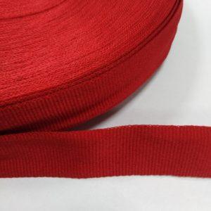 Лента репсовая 25мм (50м/рул) красный №115