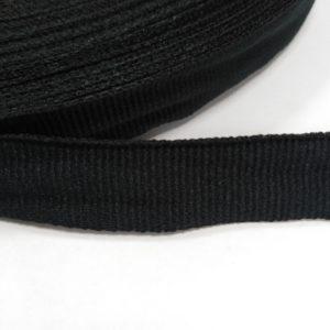 Лента репсовая 15мм (50м/рул) черная